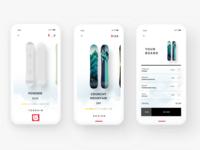 Burton Snowboard Customizer (mobile app concept)