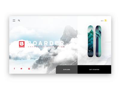 Burton Snowboard Customizer (desktop concept)