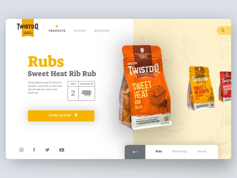 Twist'd Q BBQ Redesign Desktop ux  ui ui design landing page bbq layout exploration layout web design webdesign