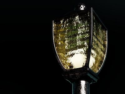 A light of hope 1 darkness dark model3d light hope lamp cycles render blender3d 3dmodel photoshop blender