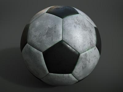 Soccer Ball modelling model 3d render black and white blender paint substancepainter iray ball football soccer
