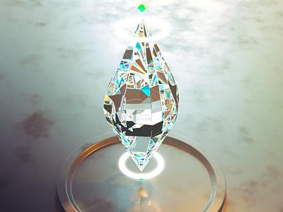 Diamond> game lightning caustics diamond 3dmodel photoshop design corona render render c4d cinema4d