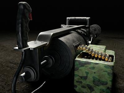 Minigun-Machine Back gun minigun machine weapong arm army cycles blender3d design render 3dmodel blender photoshop