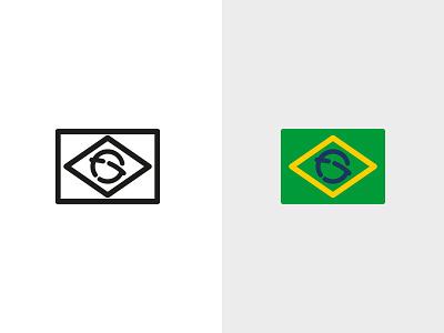 Felipe Gustavo - Logomark logomark flag braning skateboarding brasil