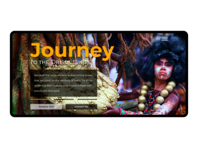Trip to tribes Landing Page