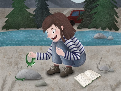 Meeting lizards for the first time, children illustration procreate drawing art children book childrens book childhood memories childhood lizard israel israel illustrator illustrator illustration art illustraion for kids childrens illustration children book illustration children child