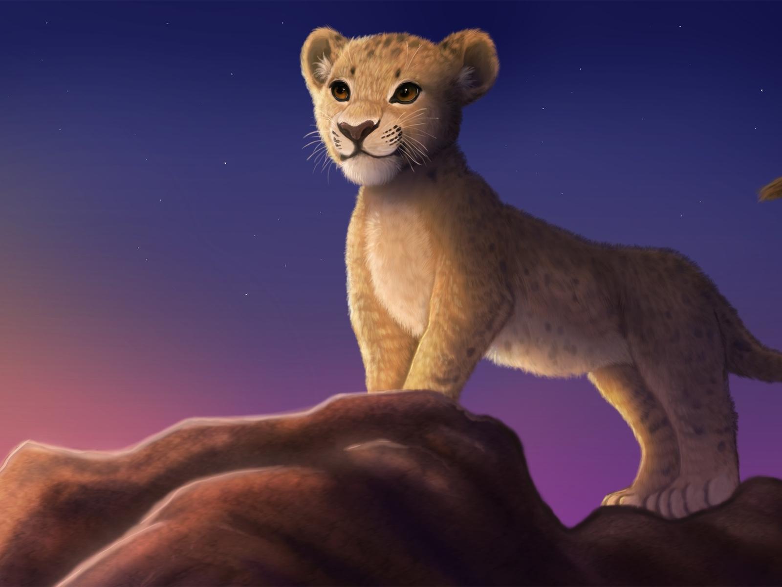 так обои на телефон король лев львята отеля собственный