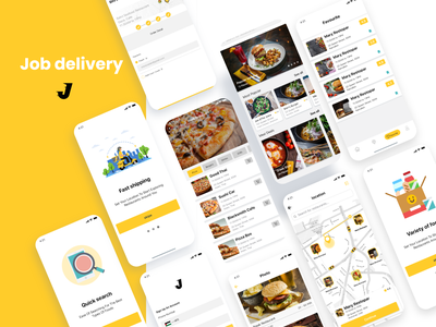 Food App (Job delivery) ux mobile ui mobile