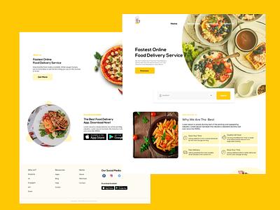 Restaurants website mobile ui ux ui