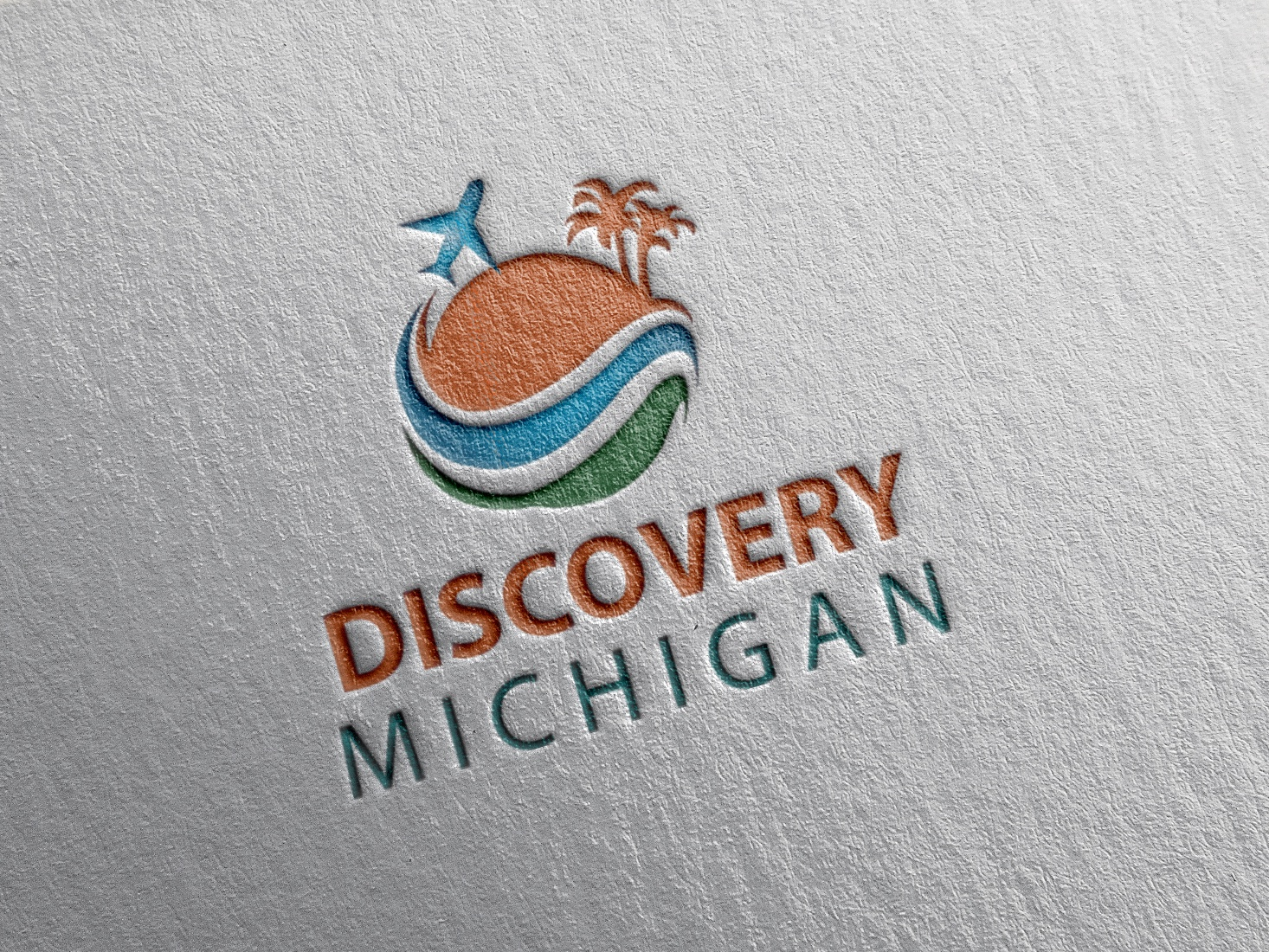 Discovery Michagn illustration company brand logo airline travel tour logo travel logo