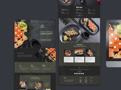 Restaurant UI/UX Design Responsive