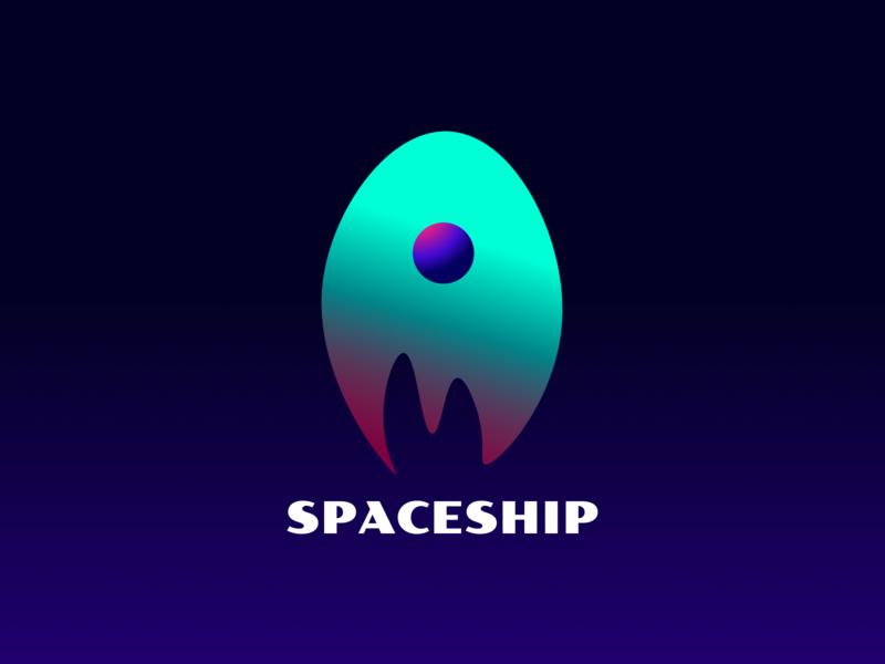 Daily Logo Challange #1 Rocketship illustraion gradient design rocketship logo rocketship rocket branding graphicdesign spaceship logo spaceship logo dailylogodesign dailylogochallenge