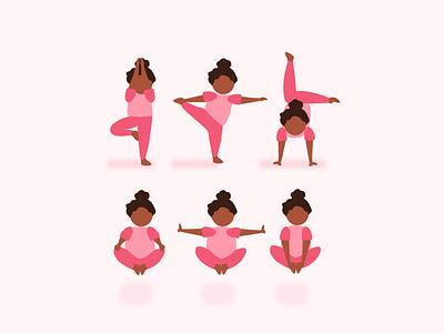 Yoga Poses-1 mascot attire costume outfit pink child yoga for kids yogi character girl illustration