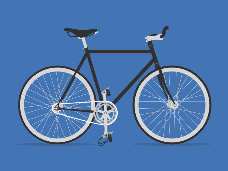 Bicycle bike bicycle illustration blue cinelli fixed
