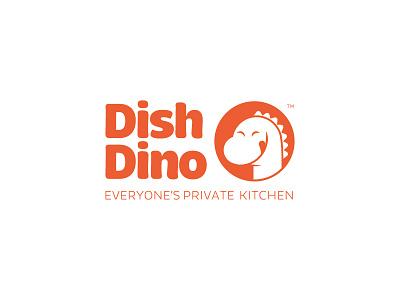 DishDino.com branding logo food cooks home dinosaur dish