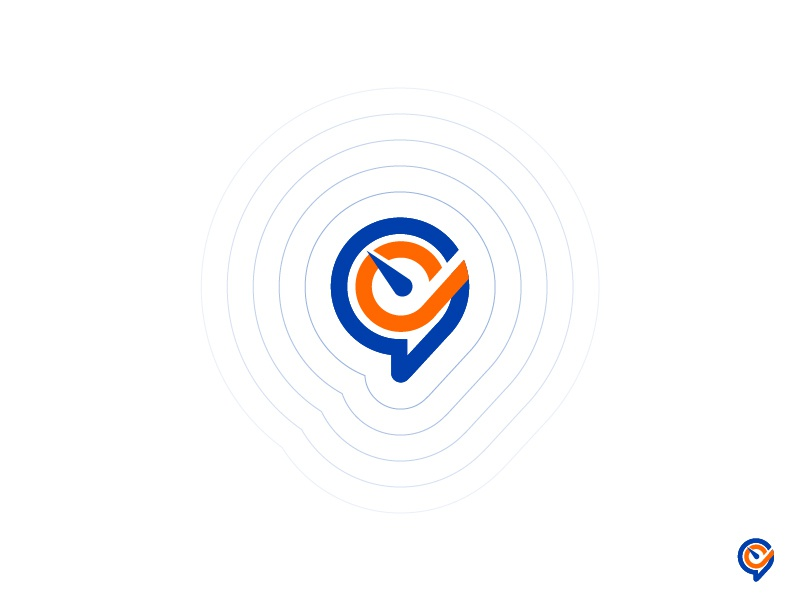 Performly Talent p monogram blue branding logo talents empower software cloud management performance