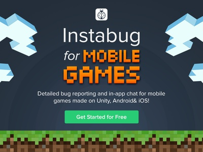 Instabug for mobile games pixels 8-bit in-app ios android reporting bug sdk unity mobile games instabug