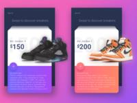 Air Jordan Sneaker Profile Cards
