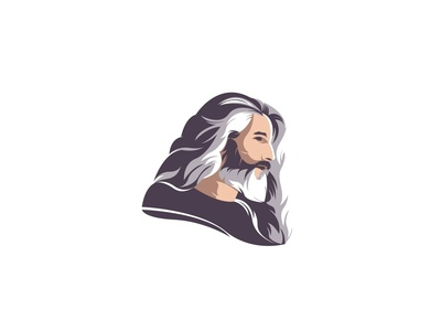 Old man Logo concept.
