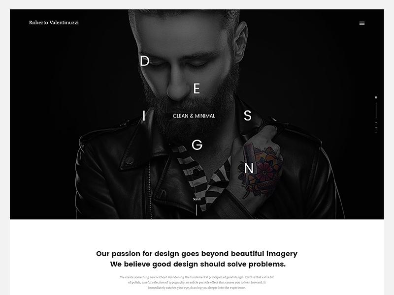 Roberto Valentinuzzi Agency agency portfolio onepage creative