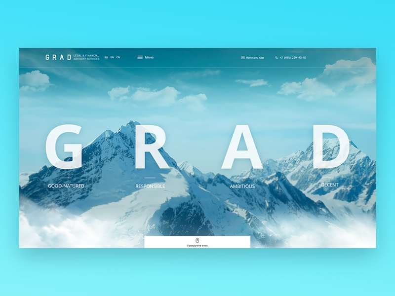 Grad - Corporate web sites ux ui design corporate