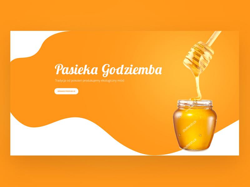 Honey shop creative enteraction ux ui clean shop