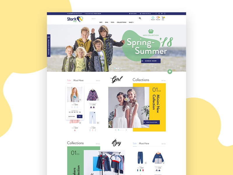 Clothes store ecommerce shop shope