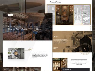 Revel Custom Wine Cellars branding website design wine luxury design