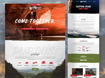 5 Point Film Festival Web Design film festival webdesign tmbr design camping adventure travel