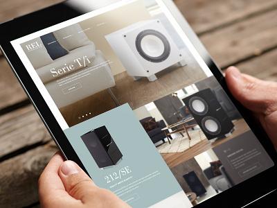 REL Acoustics ecommerce webdesign tmbr acoustics rel
