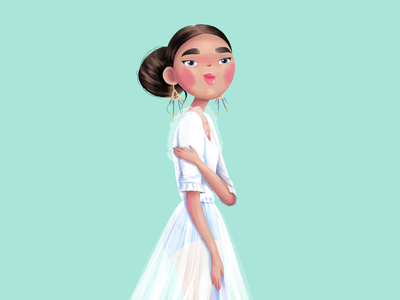 Sassy girl girl cute attitude illustration bride sassy girl