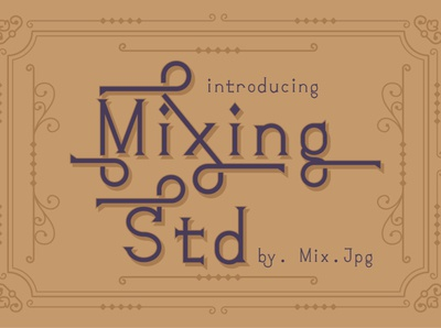 Mixink Std is a serif font