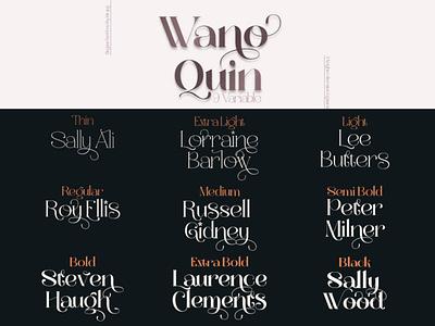 Wano Quin Elegant Serif Font Family letter designer typography design font family font fonts font design font awesome branding