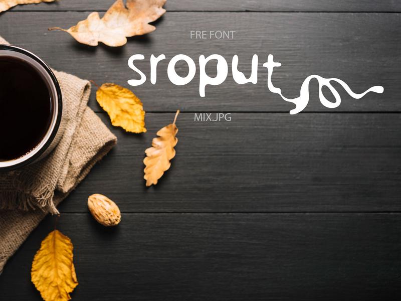 Sroput Font for coffee shop