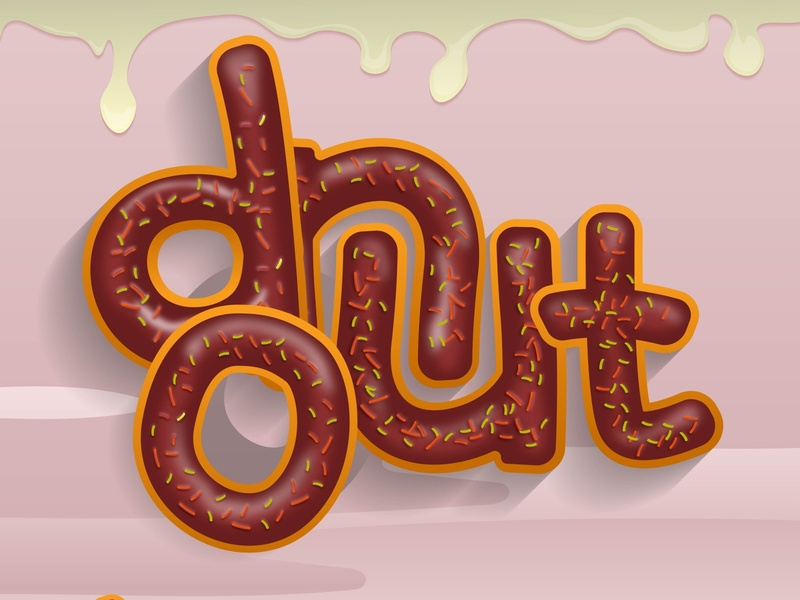 Donuts Lettering