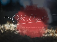 Milly Signature Font