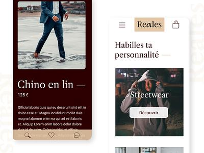 Reales – Website e-commerce design mobile light mode dark mode website webdesign web ux ui typogaphy figma graphic design dribbble design creative