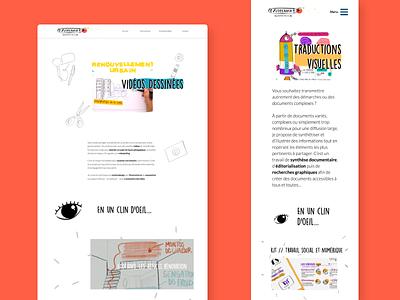 Project page - A illustrator's Website | UX Design, web design creative illustration user experience ux ui webdesign website design website web typogaphy interface design