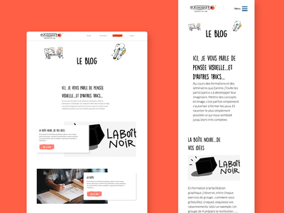 Blog page - A illustrator's Website | UX Design, web design illustration creative website website design web user experience ux ui typography interface blog design