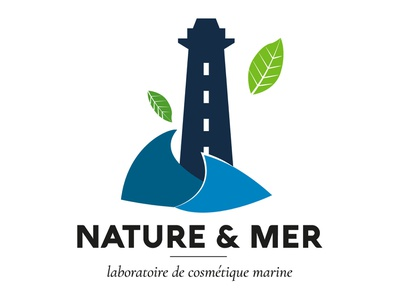 Logo Nature & Mer graphicdesign sea nature illustrator logomark logotype branding vector web design logo ui illustration