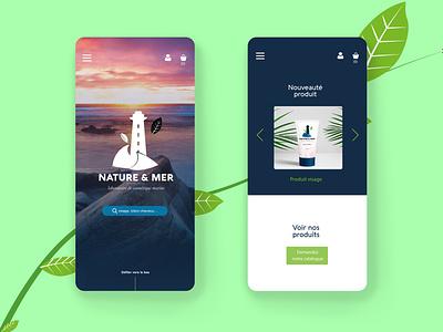 Project Nature Et Mer cosmetics sea web design website design ux vector ui nature graphicdesign design