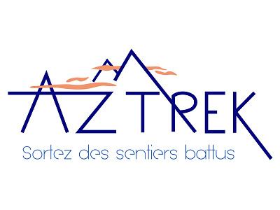 Trekking Logo geometric mountain trekking identity brand branding vector logo graphic design creative design