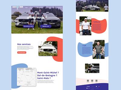 Allo Dol Taxis - Website design vector ui website web typography minimal design clean