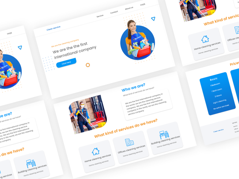Cleaning Service uidesign ux dribbble webdesign webdesigner web website user interface design userinterface ux ui design