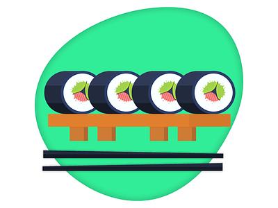 Japan Sushi art dribble japanese food sushi sushi roll illustration art illustrations illustrator illustration