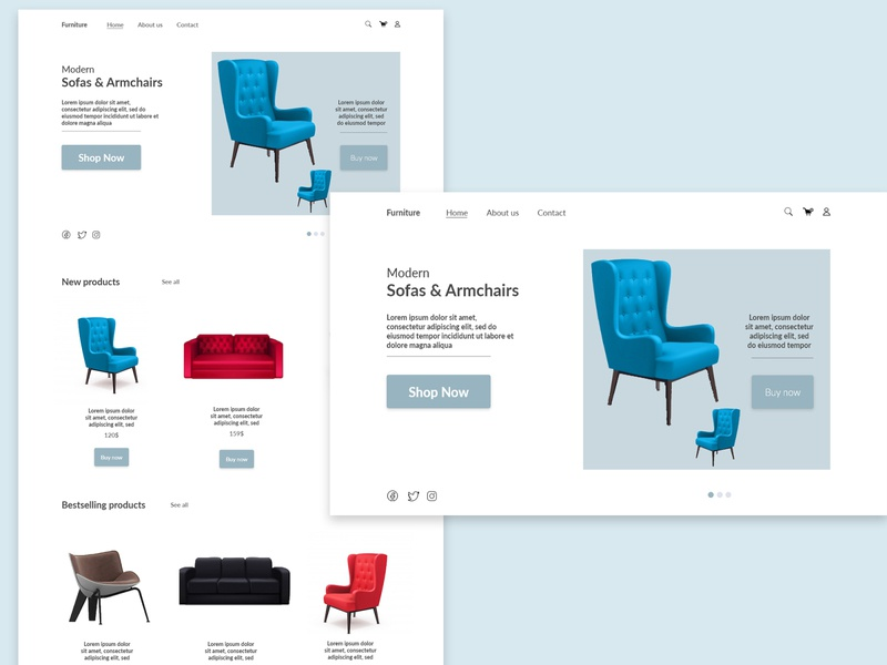 Modern Furniture website