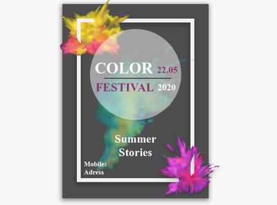 Poster Color fest