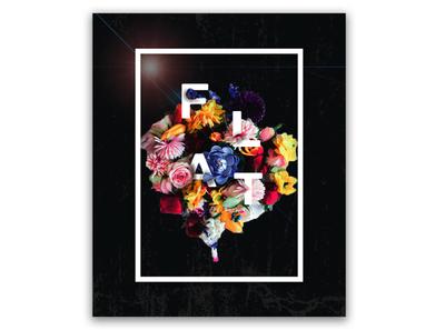 Flower art poster