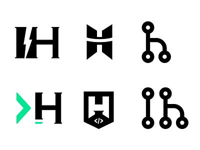 帮独立开发者 indiehackers.net 社区设计的logo初稿 indiehacker indiehackers