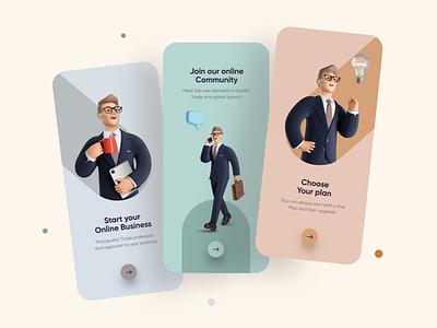 Online Business Onboarding UI Design ux uiux ui interface app mobile app design mobileappdesign mobileapp mobile ui mobileapps ui ux design minimal mobile mobile app